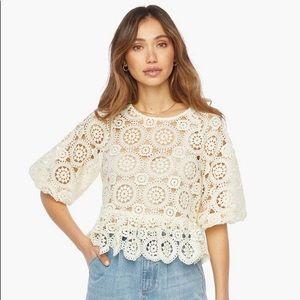 JustFab Crochet Top